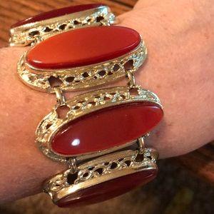 Rust & gold statement bracelet